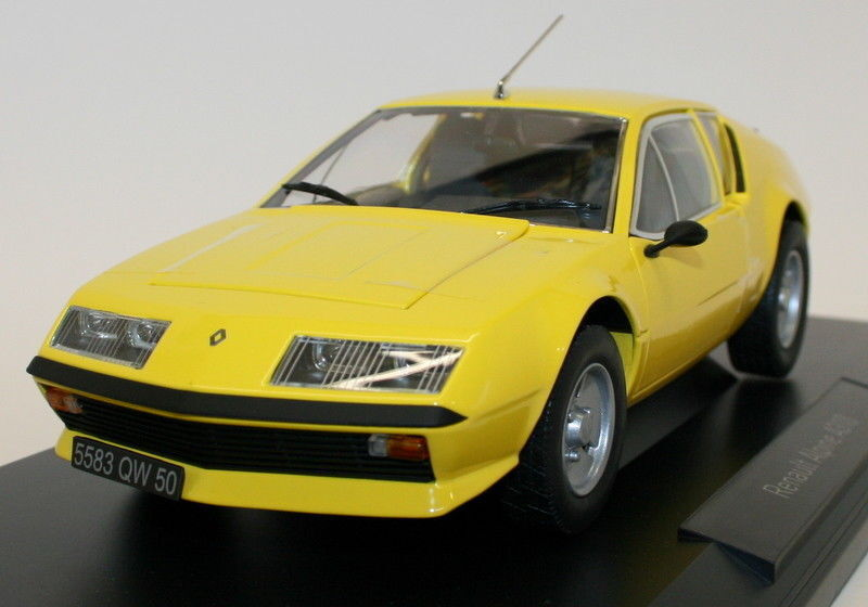 Norev 1   18 - skala - renault alpine a310 1977 gelb ein diecast modell