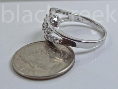 925 Solid Sterling Silver Infinity Ring with White C.Z ~ Choose Size