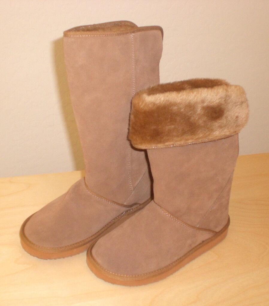 Easy Spirit Abatisoh mid calf boot adjustable tan suede leather sz 5 Md NEW