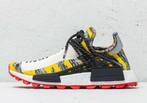 2b1b238ac Adidas x Pharrell Williams Hu Human Race NMD Solar BB9527 Sz 9.5 ...