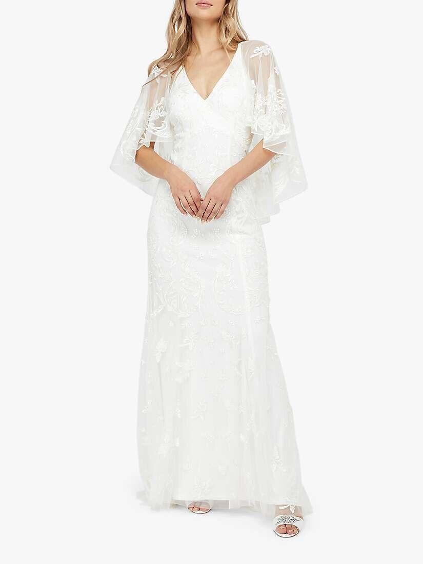 Wedding Dress- Monsoon Christabel Bridal Embellished Maxi Dress, Ivory, Size 16