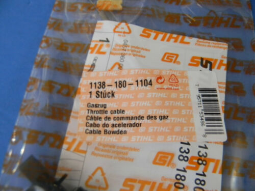 STIHL CHAINSAW MS441 MS441C THROTTLE CABLE NEW # 1138 180 1104 UP109 -----