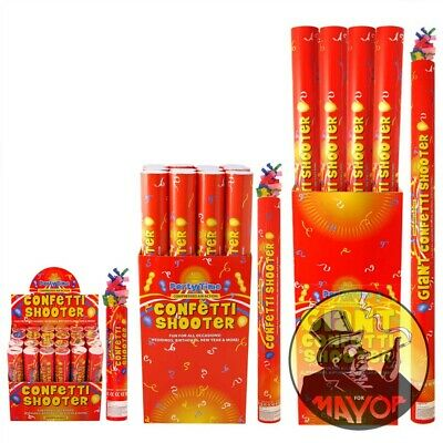 20cm Large Party CONFETTI Cannons Poppers Shooter Wedding New Years Large Giant