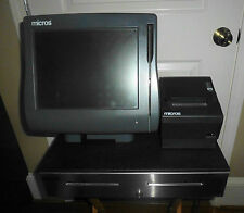 Micros Model Workstation 4 Ws4 Pos System Unit With Cash Drawer Amp Printer