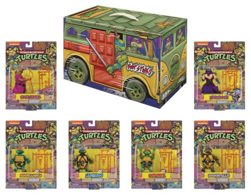 SDCC 2020 TMNT RETRO ROTOCAST PX Exclusive 6PC ACTION FIGURE SET IN STOCK