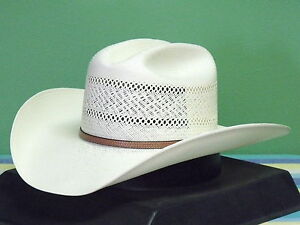 6aec08f5 Details about RESISTOL GEORGE STRAIT COLT 10X SHANTUNG PANAMA STRAW COWBOY  WESTERN HAT