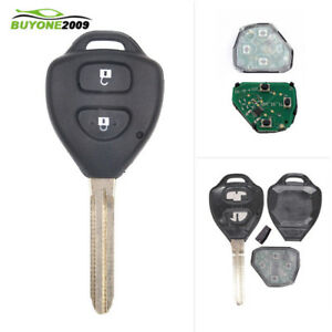 Replaces GQ4-29T with 67 Chip 4-Button Remote Replacement 2 Pcs Car Key Remote Fob Fit for Toyota Corolla 2008-2010