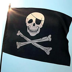 Image Is Loading Jolly Roger Skull And Crossbones 5ft X 3ft
