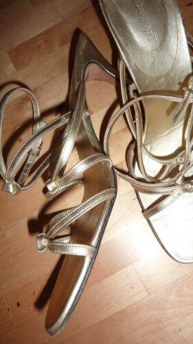Glitzy tacco Bennett Chic Sandali pelle oro caviglia alla con 40 K cinturino Scarpe L Lk 7 col in Uk TFU8WE1S