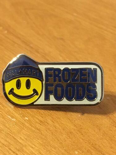 Rare Walmart Lapel Pin Smiley Frozen Food Department Wal-mart Pinback