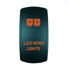ORANGE 2 POSITION ROCKER SWITCH LASER ETCHED 20A 12V LED WORK LIGHTS OFFROAD