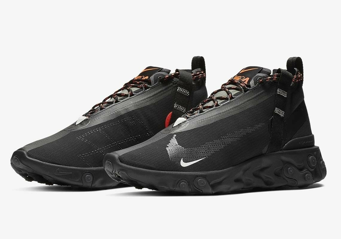 Nike React Runner Mid WR ISPA Size US 10 Black Anthracite