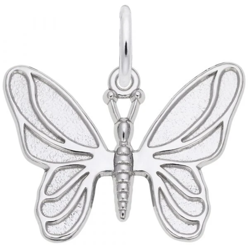 Butterfly Charm: Sterling Silver: Animals & Pets: Style 2429 (Rembrandt Charms 2