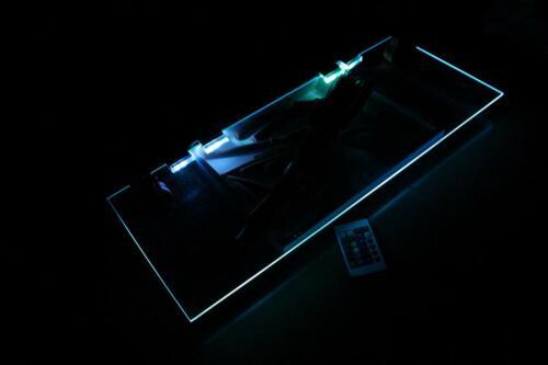 3er Set RGB Glaskantenbeleuchtung Regalboden Beleuchtung mit 3 Clips TG5022-003