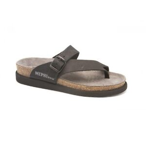 ea367b5208 Image is loading Mephisto-Helen-Black-Nubuck-Comfort-Sandal-Womens-Sizes-