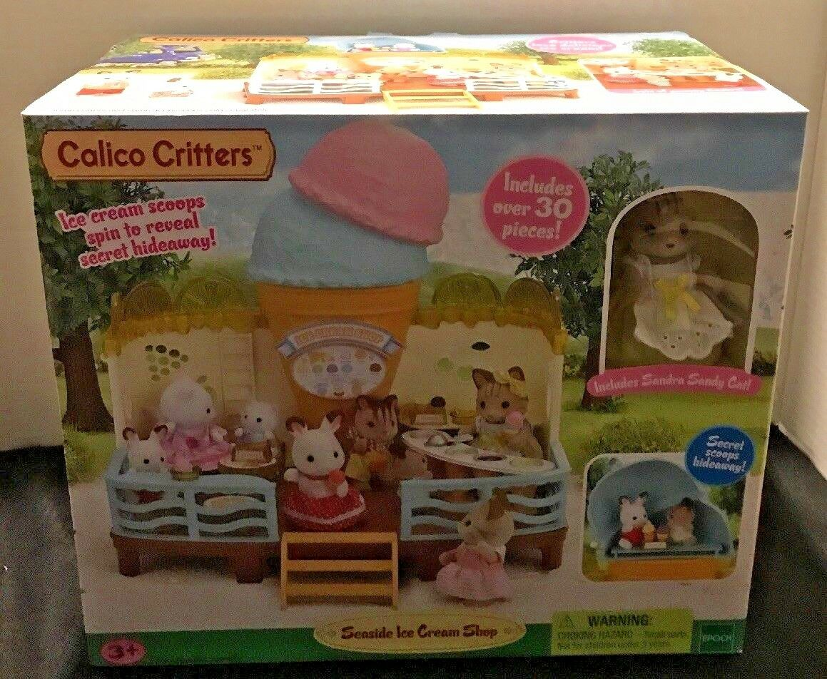 Calico Critters -Seaside Ice Cream Shop-New and Factory Sealed Free Shipping USA