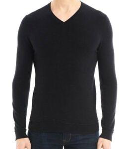 V Jumper Merino Noir Pull 1881 Col Sweater 100 Xl 54 T Laine Neuf Cerruti qxZxBzP