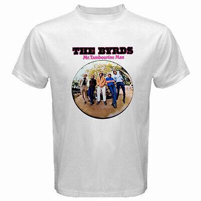 New THE BYRDS *Album Logo Retro Rock Band Men's White T-Shirt Size S to 3XL