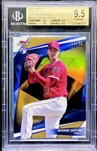 Shohei Ohtani 2018 Topps Finest Firsts Gold Refractor Rookie /50 BGS 9.5 POP 5