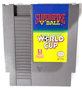 Super Spike V'Ball/World Cup Soccer ORIGINAL NINTENDO NES GAME Tested ++ WORKING