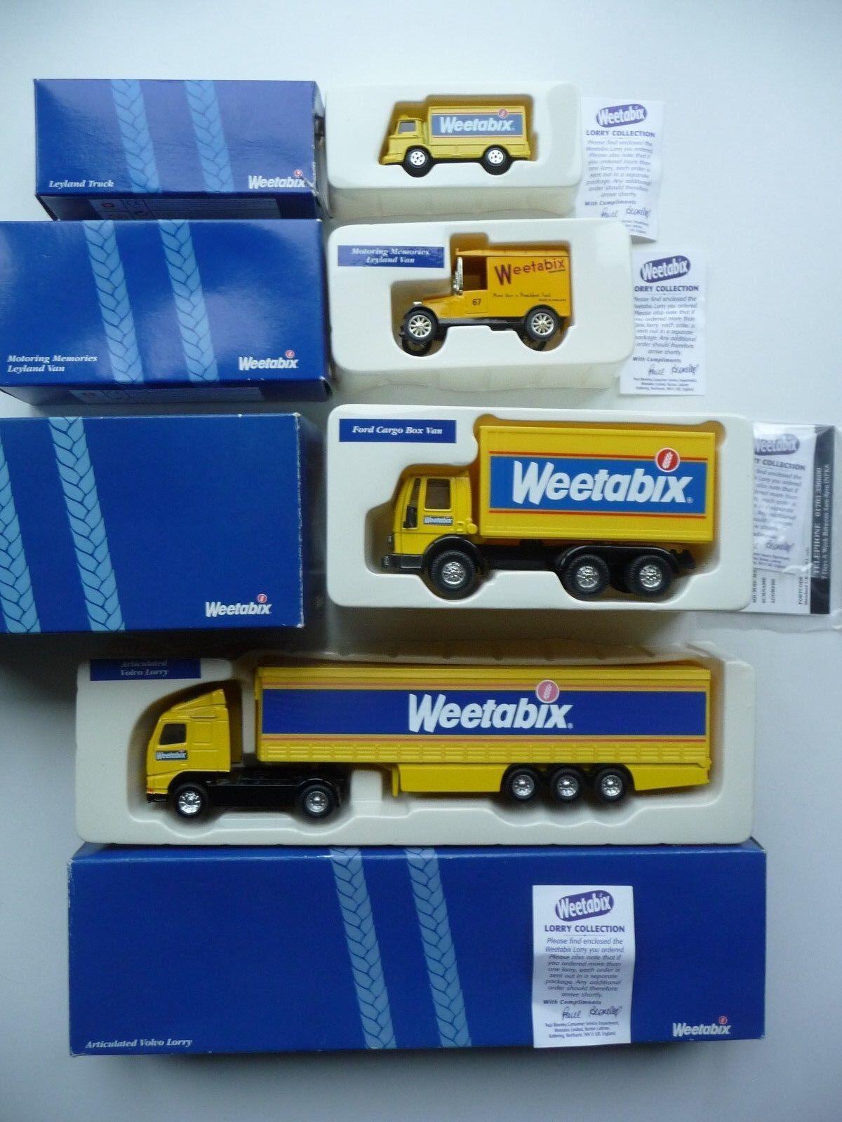 Corgi Weetabix Collection, 56501, 61114, 59603, 59518 - MIB.