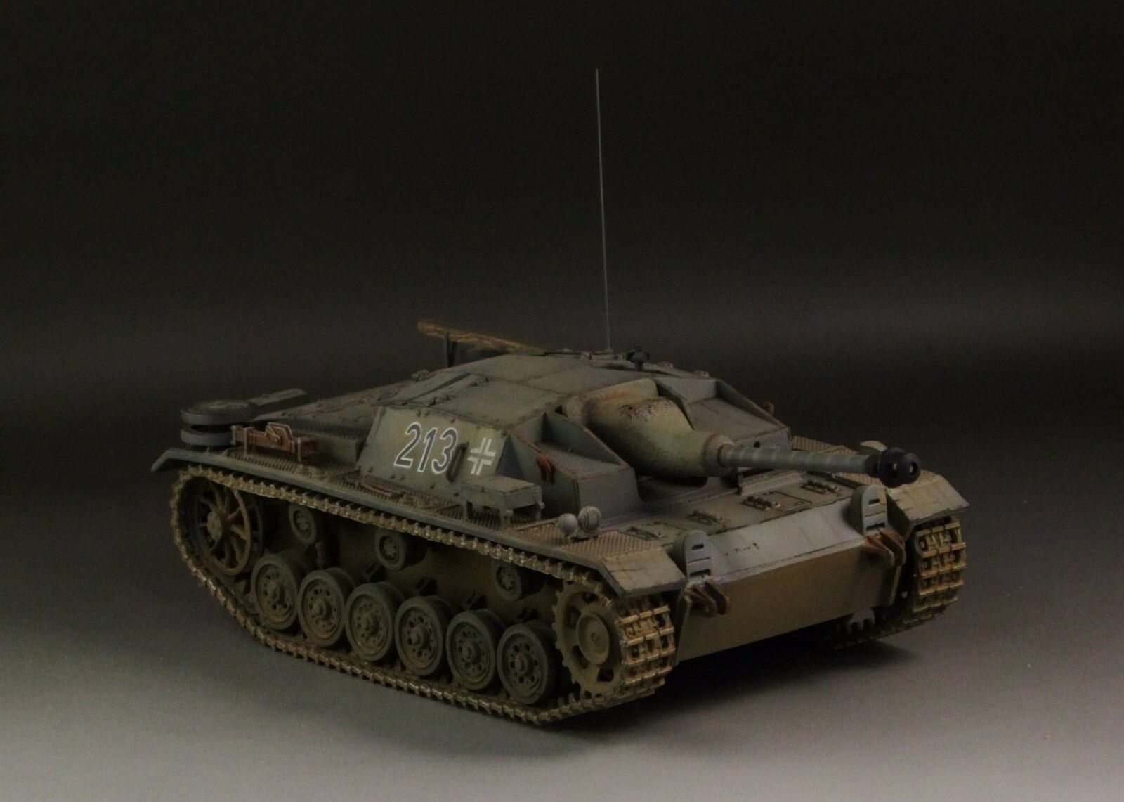 1/30 WW2 German StuG. III  ausf C/D.  Gris Version  with 2 barrels