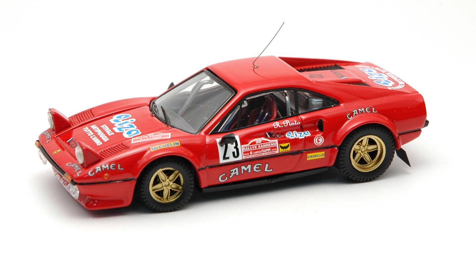 Ferrari 308 Gtb  23 Retirouge Sanremo 1978 R. Pinto   F. Penariol 1 43 Model