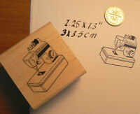 P22 Sewing Machine Toy Rubber Stamp 1.4x1.4 Wm