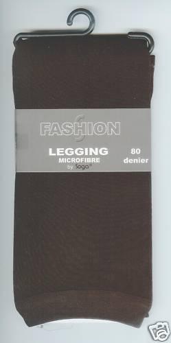 L//XL BLICKDICHT Microfaser-Legging schoko 80den