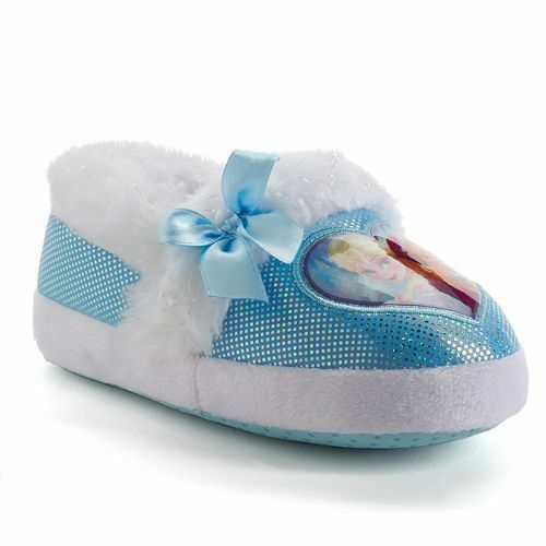 Princess Pink NWT Frozen Anna Purple Disney/'s Girls Slippers Frozen Blue Heart