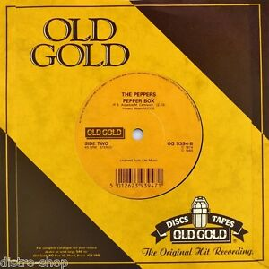 7-034-THE-PEPPERS-Pepper-Box-1974-HOT-BUTTER-Popcorn-1972-OLD-GOLD-45rpm-UK-1985
