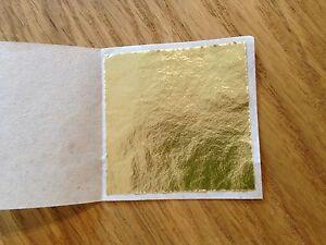 100-x-24K-Gold-Leaf-Sheets-For-Art-Crafts-Design-Gilding-Framing-Scrap