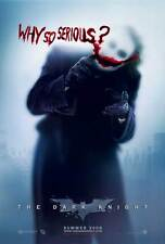 THE DARK KNIGHT Poster Movie B (27x40) Heath Ledger JOKER Why So Serious