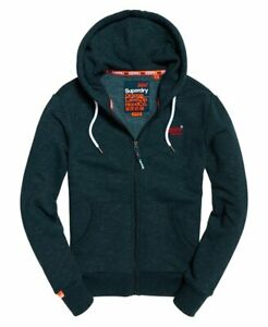 Superdry Orange Label range Midnight Blue Feeder Hoodie Zip Up World Shipping