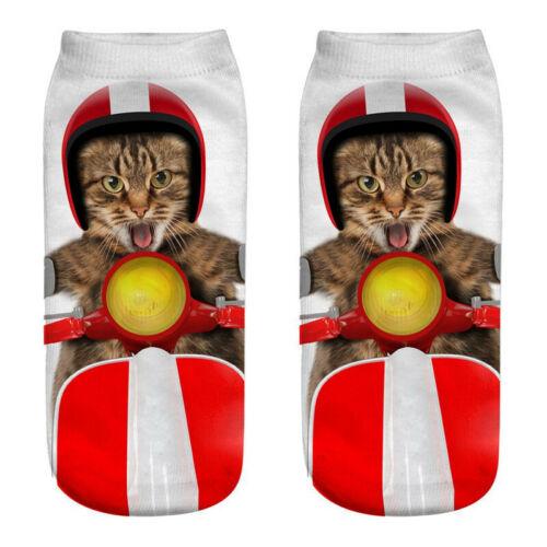 Drôle Unisexe Enfants Socquettes chats chiens Pokémon Licorne animaux Sock 3D Imprimé