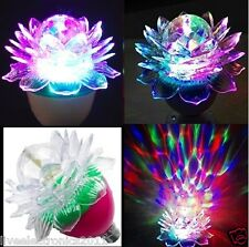 Lotus Crystal LED Rotating Disco Bulb Diwali Home decoration LED Light