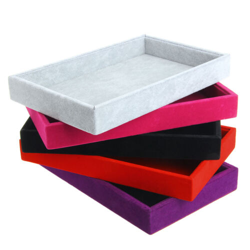 Hot Stackable Velvet Jewelry Trays Inserts Catch All Jewelry Display Tray Case