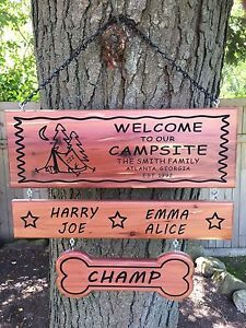 Details About Personalized Camping Sign Custom Camp Sign Customizable Wood Sign Custom Rv Sign