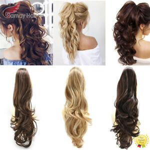 US-Claw-Clip-in-Ponytail-Extension-Wavy-Long-Hair-Piece-Pony-Tail-for-Women-22-034