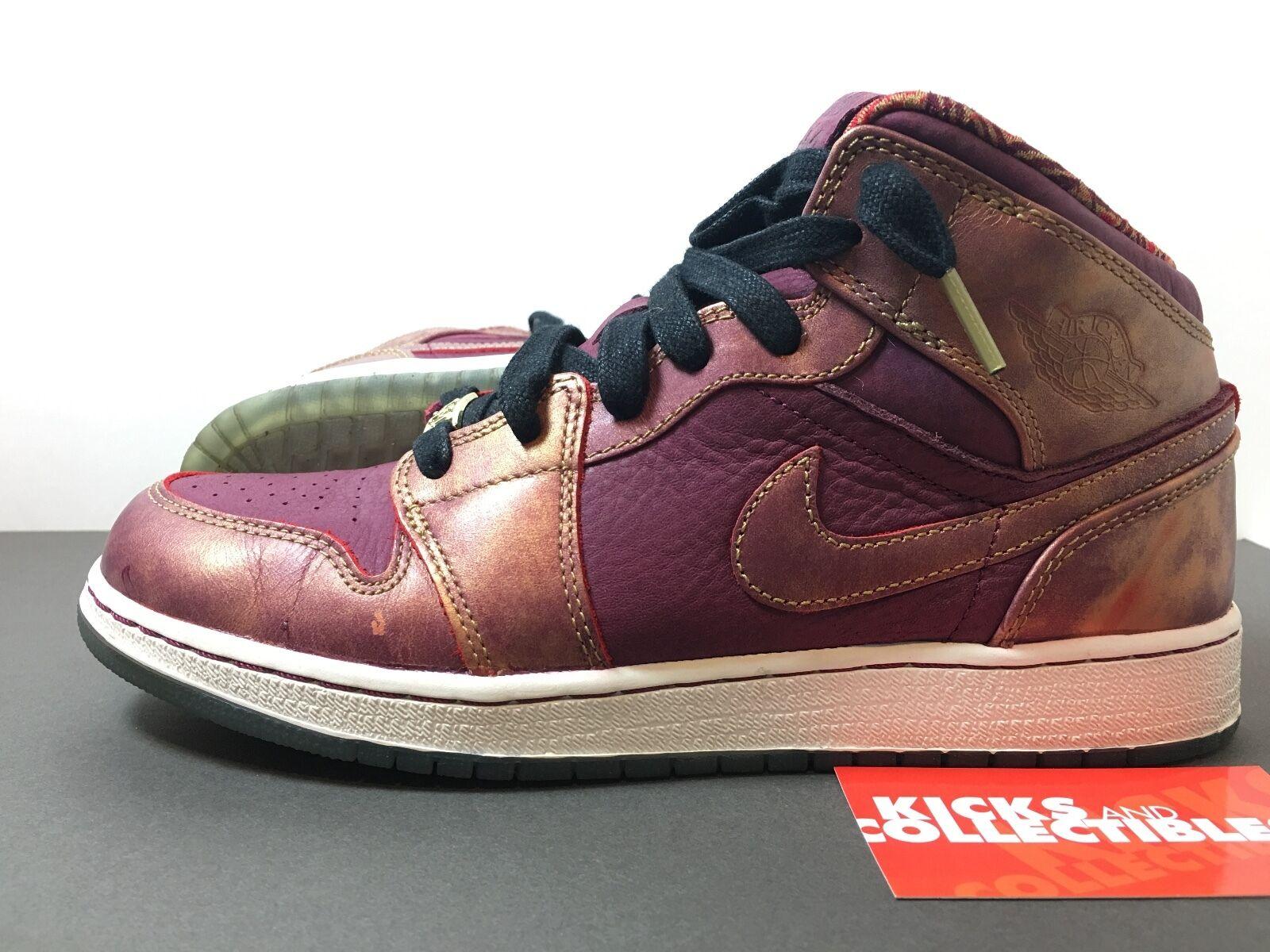 Nike Air Jordan 1 Mid BHM 647562 el 605 7y Rojo granate el 647562 mes de la historia negra salvaje Casual Shoes 010f7d