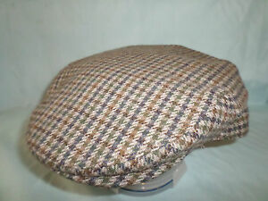 dbfdf6a38 Details about GENTS RETRO ENGLISH COUNTY TWEED WOOL FLAT CAP MADE IN  ENGLAND M L XL XXL