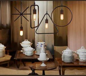 Nuova Retrò Loft Ferro Lampadari Moderni da Cucina Lampade Design ...