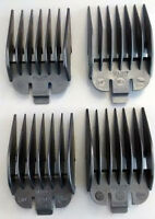 Wahl Clipper Attachment Combs - Size 5-8 Black Plastic Guards