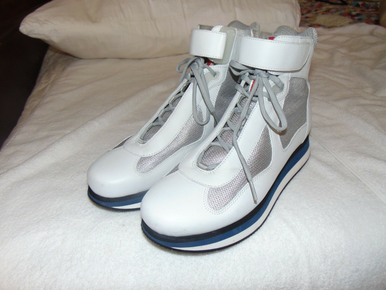 Classic Prada Homme Americas Cup VEL Strap High Top baskets 8 US 9 Sold Out
