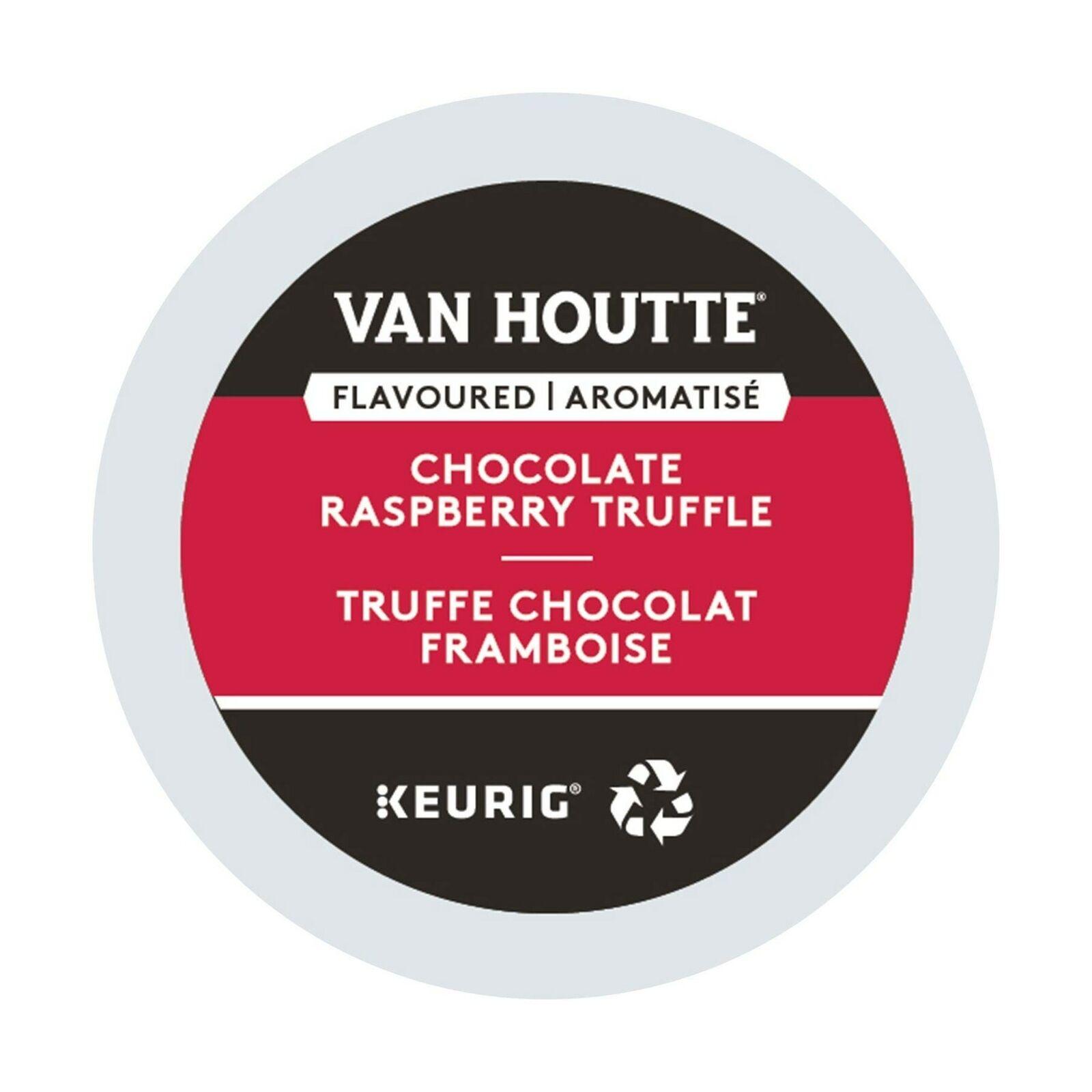 Van Houtte, Framboise Chocolat Truffe, Single-Serve Keurig K-Cup Pods, opaline...