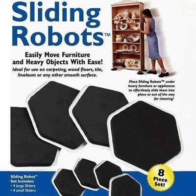 8 pieces Furniture Sliders Floor Table Sofa Fridge Slider Moving Moves Sliding