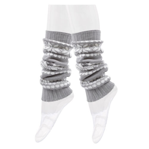 Diff Colors Trendsblue Women/'s Soft Snowflake Knit Leg Warmers