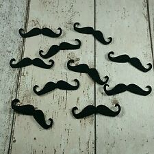 Moustache shapes felt die cut appliques, Birthday , Fathers Day, Movember