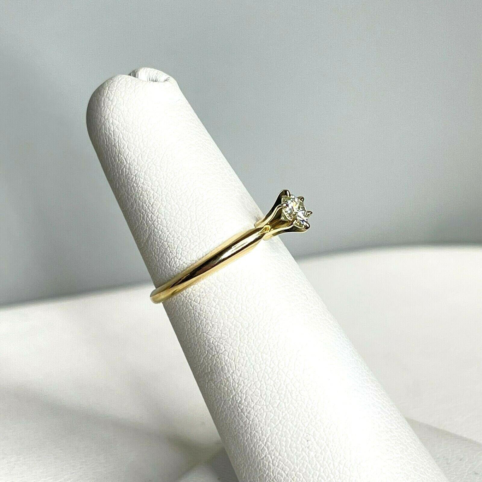 Vintage Signed DACO 14k Yellow Gold Diamond Solit… - image 3