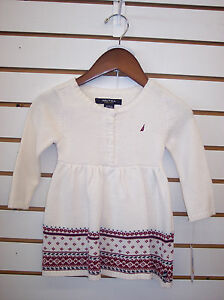 348498e3c Infant Girls Nautica  36.50 Sweater Dress w  Bloomers Size 24 Months ...
